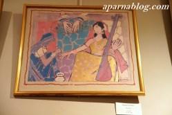 M F Hussain painting.