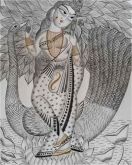 Divinity In Nature Kalighat Painting ; West Bengal
