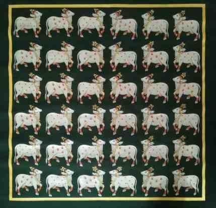 Herd Of Cows Vrindavan;Pichwai Painitng