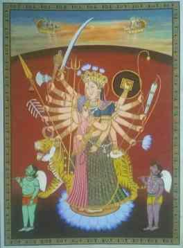Durga Durga;Pichwai Painitng