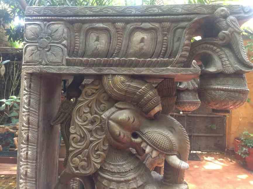Yalis - Wood Work Tamil Nadu