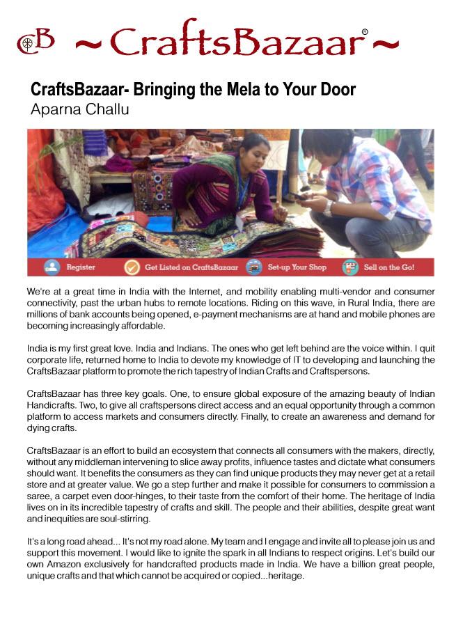 Inkspot-CraftsBazaar-Aparna-Challu-CEO