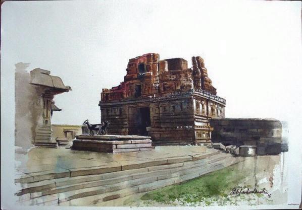 Meet-the-Master-Series-Shree-Subhash-Chandra-Gowda-Master-painter-in-Water-Colours-Karnataka-India-Aparna-Challu-jpg (10)