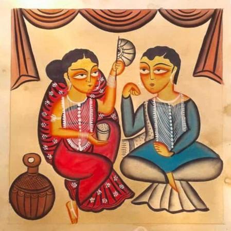 Meet-the-Master Series-Shreemati-Mamani-Chitrakar-Kalighat-Painting-West Bengal-Aparna-Challu-jpg (4)