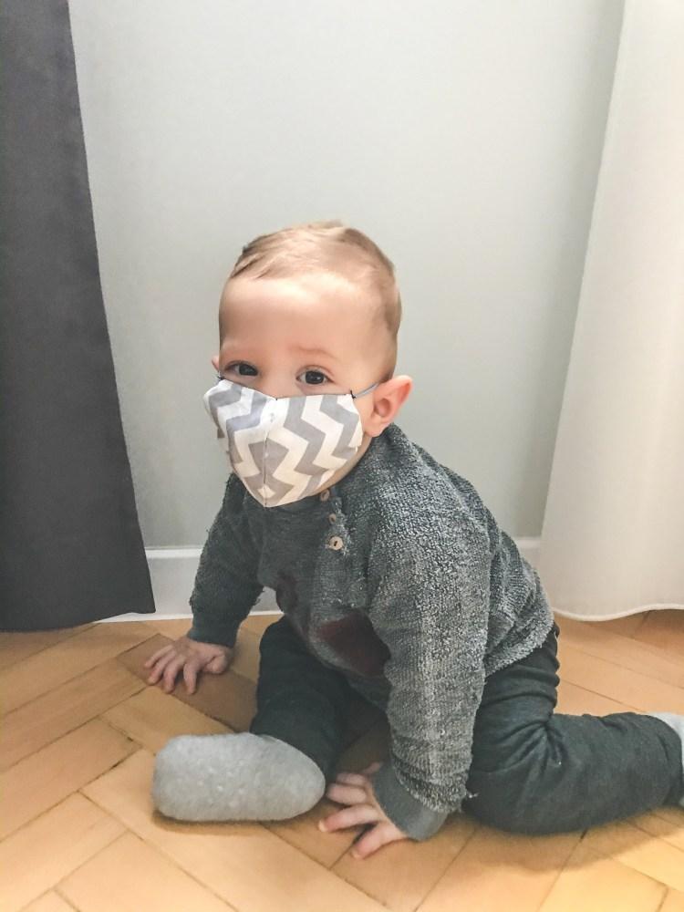 предпазна маска за бебе