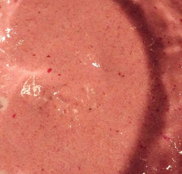 I like the flecks of strawberry in it.
