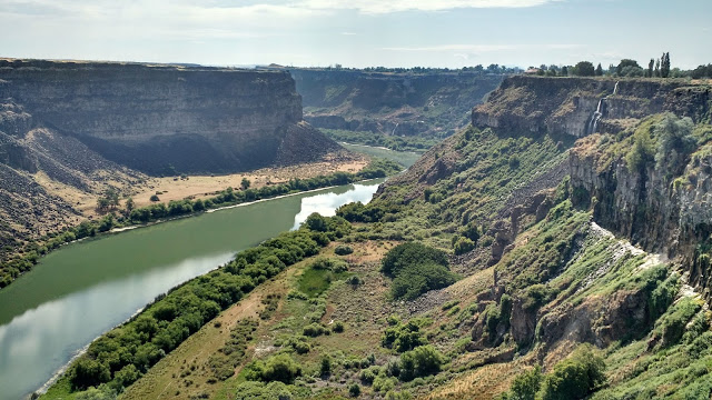 Snake River Canyon, Twin Falls, Idaho -- The bridge I was standing on when I took this picture is apparently one you can legally base jump off of!