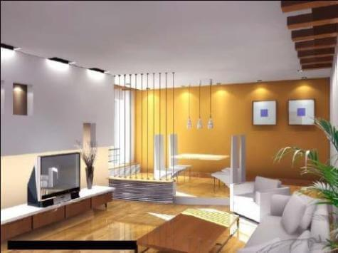Wonderful Modern Living Room With A Combination Of Yellow And White Colors Part 29