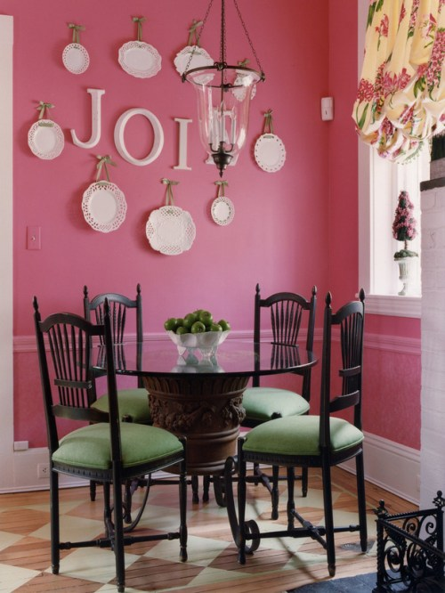 pink room design dining