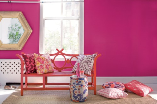 pink room design walls