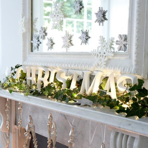 Christmas---Modern---Mantel-decoration2