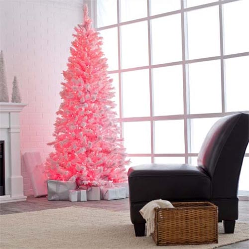 Modern-pink-Christmas-Tree-Modern-christmas-decor-2011