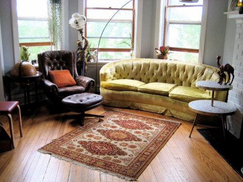 Creative vintage living room
