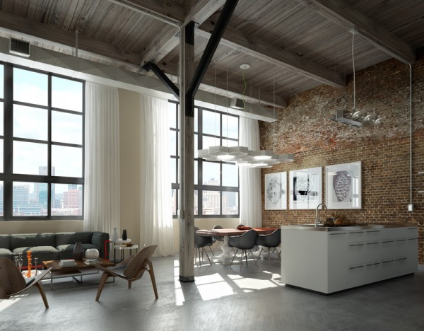 brick loft Creative Living Design for the Apartment Condo