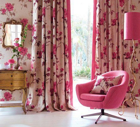 floral curtains 2