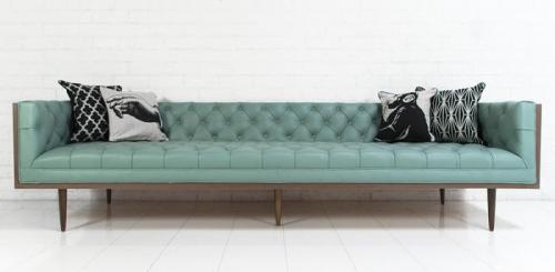 pale blue leather sofa