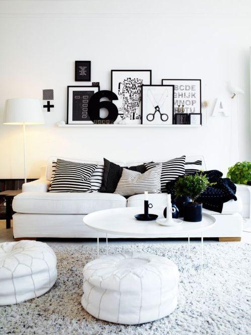 Black and white Living