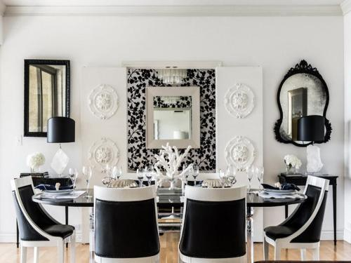 Black-And-White-Contemporary-Dining-Room