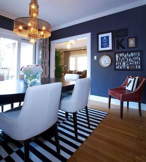 Eclectic-dining-room-in-Navy-Blue decoist