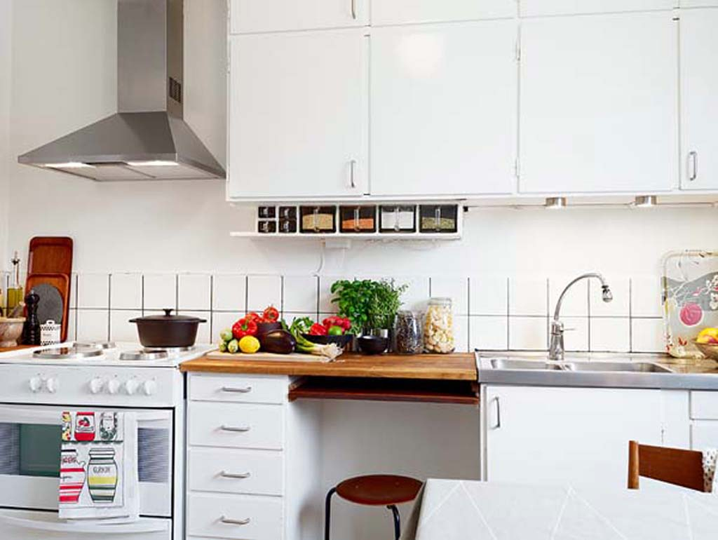 Creative living design for the apartment condo for Unique small kitchens