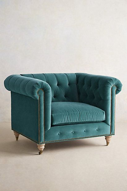 velvet Lyre Chesterfield armchair