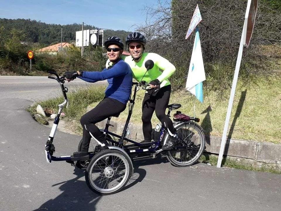 a Santiago en bicicleta