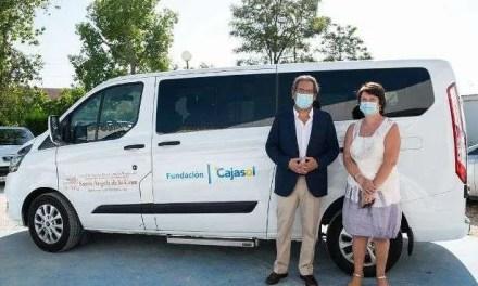 Visita de Antonio Pulido, presidente de la Fundación Cajasol