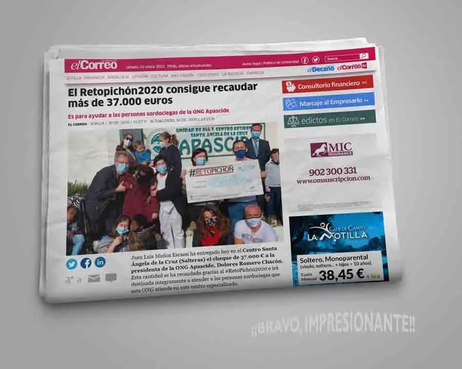 Noticia periódico Reto Pichón