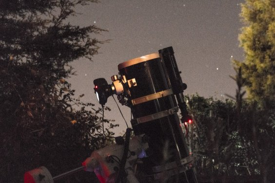 200PDS against a starry sky