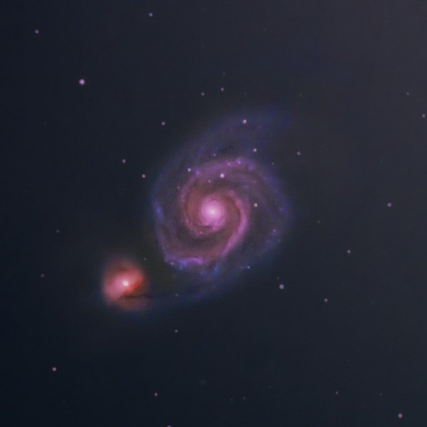 M51 – The Whirlpool Galaxy (& friend)