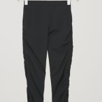 Trousers with waist tie