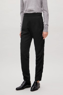 cos SLIM-FIT TROUSERS WITH GATHERED DETAIL