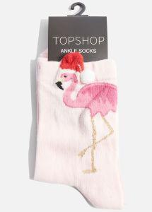 topshop Flamingo 3D Christmas Hat Socks