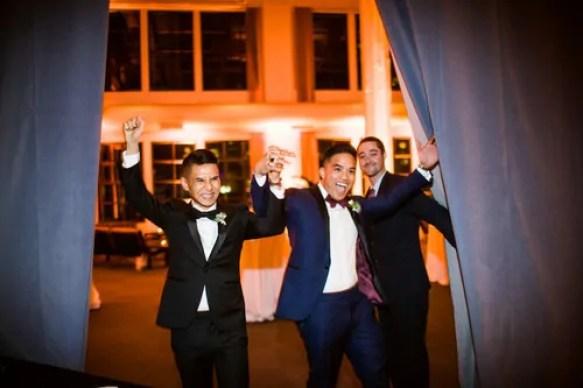 Same Sex Couple Reception Grand Entrance Introductions Hudson Valley DJ