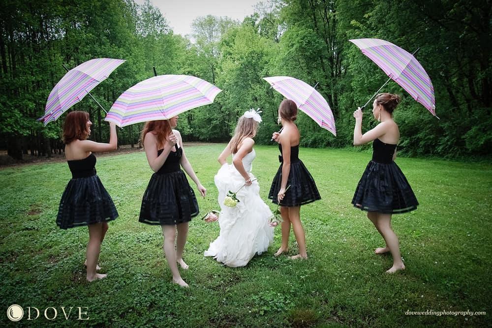Wedding superstitions rainy wedding day bridesmaid umbrellas rainy wedding day wedding rain hudson valley dj wedding dj junglespirit Images