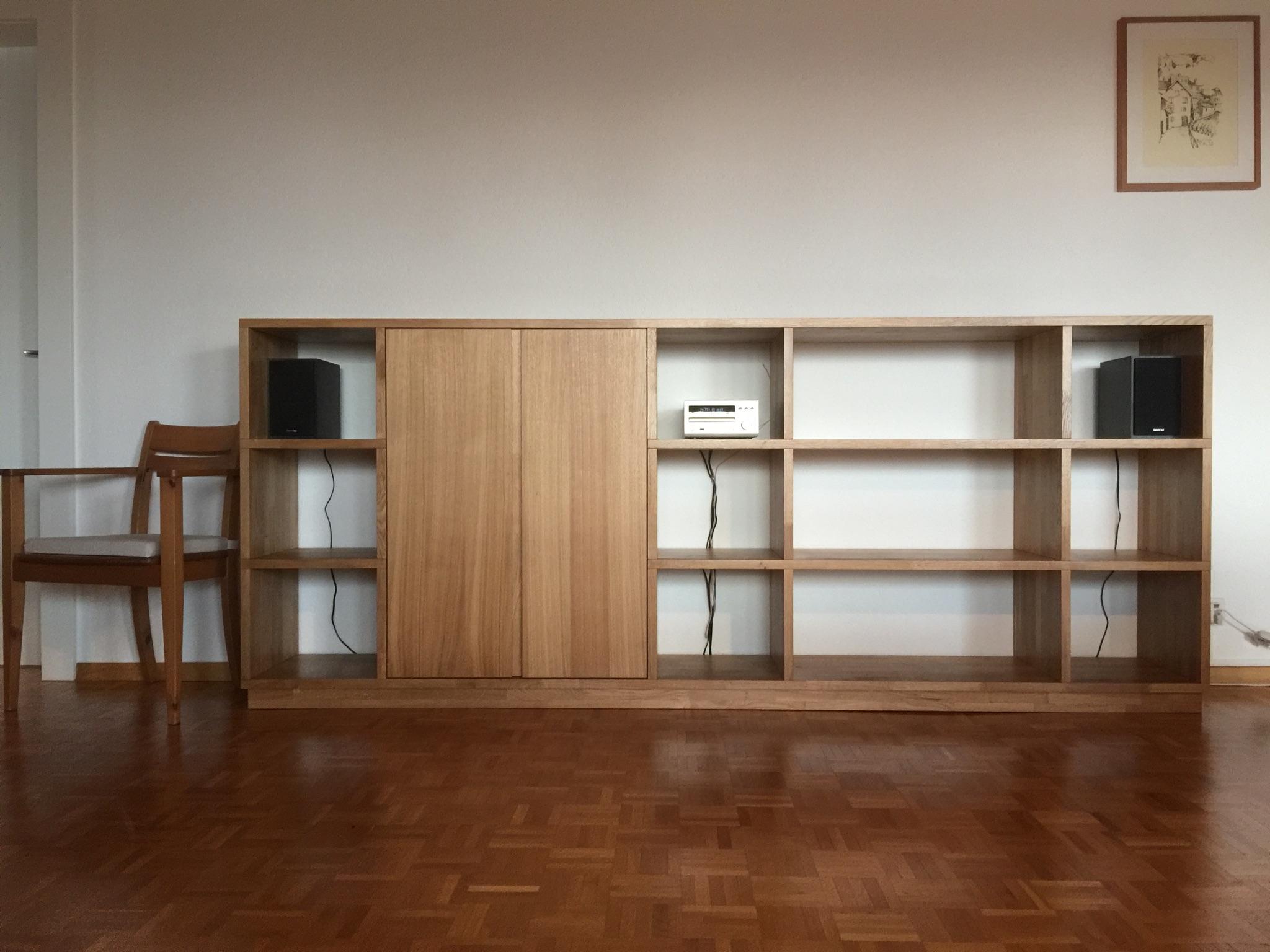bibliotheque basse pour sono ap design