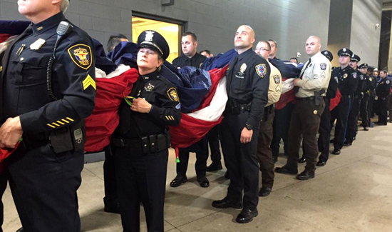 The excitement was in the air as 200 officers were honored at a recent Dallas Cowboys game.