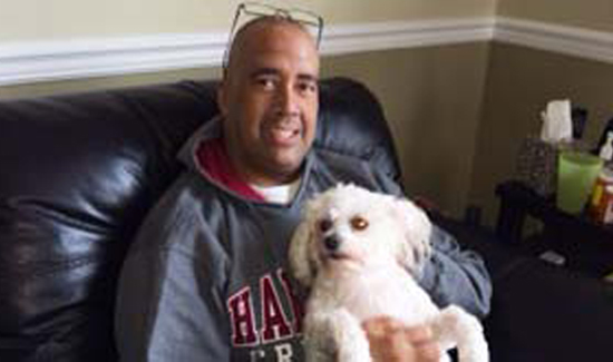 A lot of people would be surprised that Steve, a tough street cop, was a passionate lover of animals. Along with his fiance Miriam, he was totally devoted to his three Bichon Frises. He's pictured here with Snowball who many people said are the three most spoiled dogs on the planet.