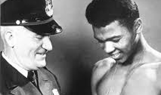 Muhammad Ali's and Officer Joe Martin who took the young Cassius Clay under his wing after his bicycle was stolen when he was 12-years-old.