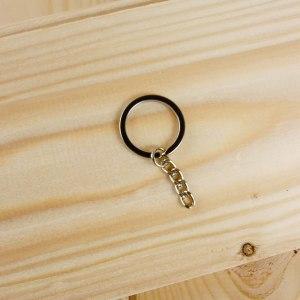 Anello brisè per portachiavi con catena acciaio 25mm