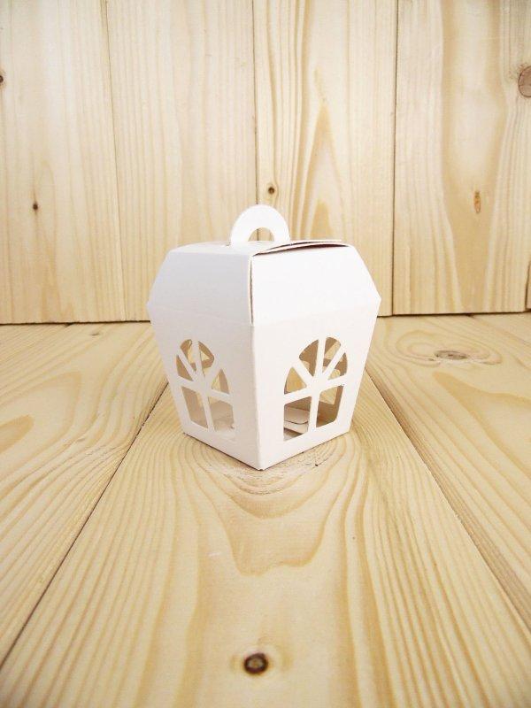 Lanterna in cartoncino bianca 5x5x7 BOX14