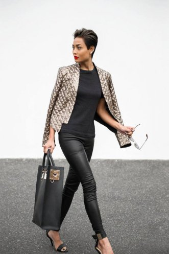 black and gold outfit, black and gold, stylish, stylish wear, chic ensemble