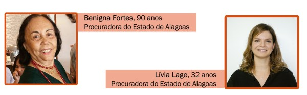 Procuradora Benigna Fortes e Lívia Lage