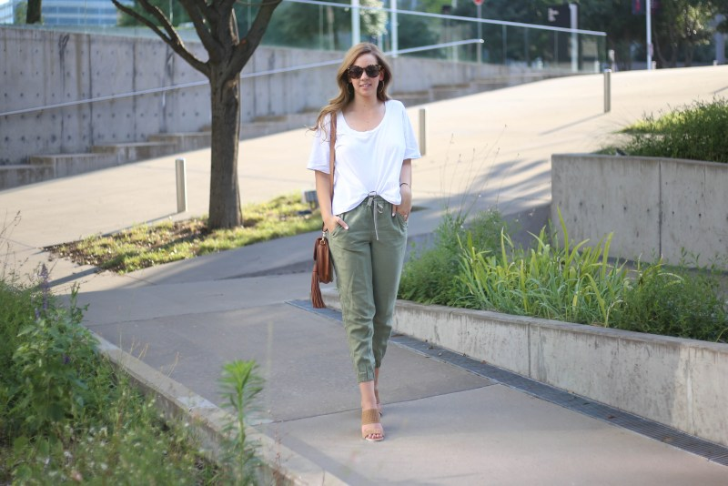 Olive Pants - A Pearl Kind of Girl