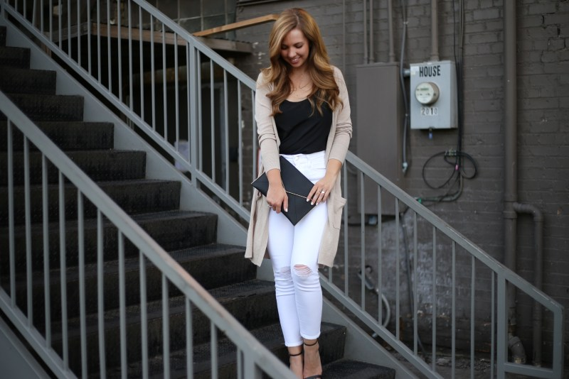 Long Linen Cardigan - A Pearl Kind of Girl