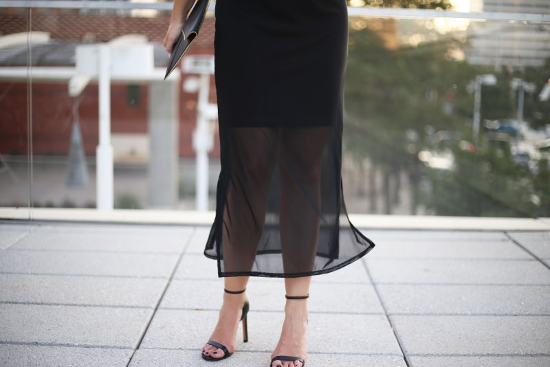 Black Mesh Dress - A Pearl Kind of Girl