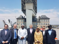 Gambian President Barrow visits port of Antwerp