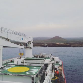 The SA Agulhas II arriving at Marions Ialnd on 12 April. Photo: Liezel Rudolph.