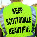 """Keep Scottsdale Beautiful"" back of safety vest"