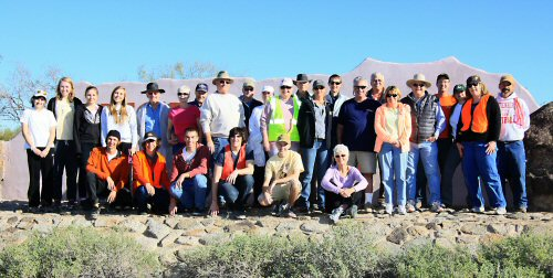 """Friends of the Scenic Drive Roadside Cleanup Volunteers"" by Dennis Liddell, January 2012"